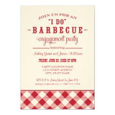 "Wedding Engagement Party Invitation   ""I Do"" BBQ 5"" X 7"" Invitation Card at Zazzle"