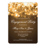 Wedding Engagement Party Sparkling Lights Gold Custom Invites