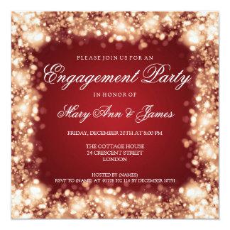 Wedding Engagement Party Sparkling Lights Gold Invitation