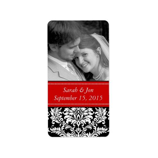 Wedding Engagement Photo Damask Save the Date Label
