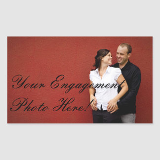 Wedding Engagement Photo Stickers Rectangle