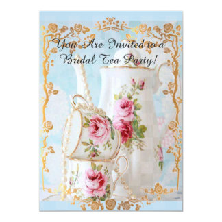 WEDDING/ENGAGEMENT TEA PARTY GATHERING CARD