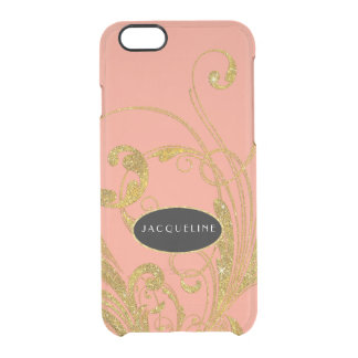 Wedding Engraved Foliage Scroll Swirl Flourishes Clear iPhone 6/6S Case