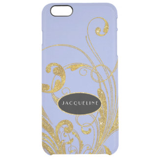Wedding Engraved Foliage Scroll Swirl Flourishes Uncommon Clearly™ Deflector iPhone 6 Plus Case
