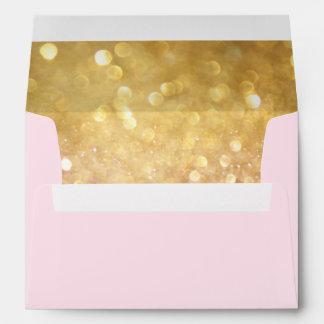 Wedding Envelope for Bokeh Movie Ticket Style Gold