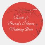 Wedding Envelope Seal Sticker Template