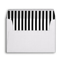 Wedding Envelope with Black & White Striped Liners