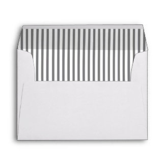 Wedding Envelope with Grey & White Striped Liners