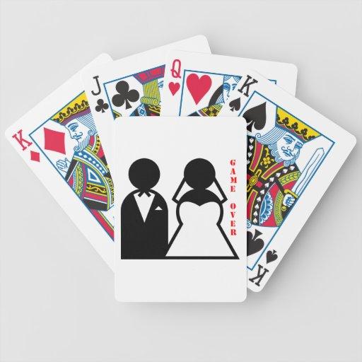 wedding equals game over deck of cards