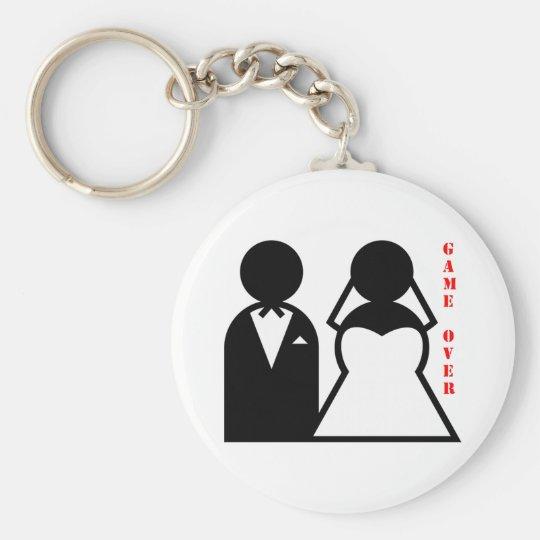 wedding equals game over keychain