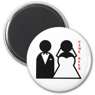 wedding equals game over magnet