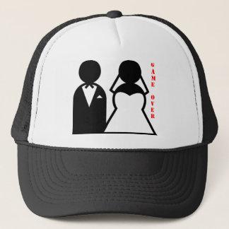 wedding equals game over trucker hat