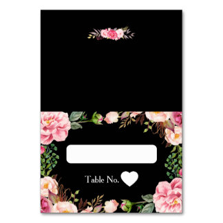 Wedding Escort Card Pink Romantic Floral Wrapping