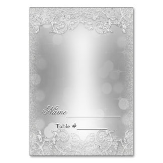Wedding Escort Card Silver Fill in Later