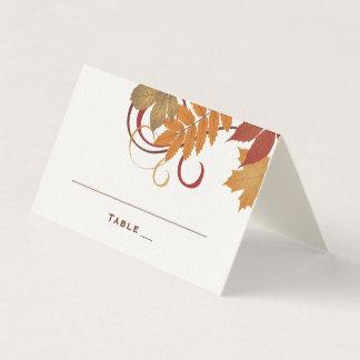 Wedding Escort Cards | Autumn Falling Leaves