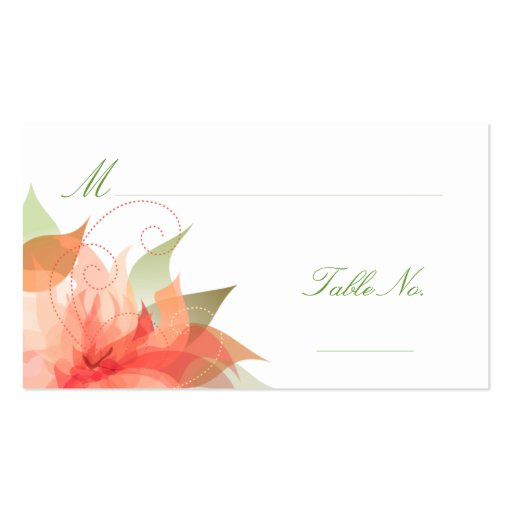 Wedding Escort Guest Place Cards Business Card Template