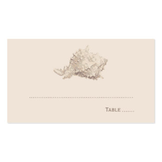 Wedding Escort Place Card Ivory Seashell Business Cards