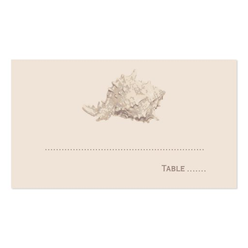 Wedding Escort Place Card | Ivory Seashell Business Cards