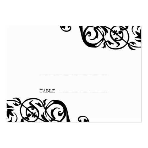 Wedding escort seating card custom print elegant business cards
