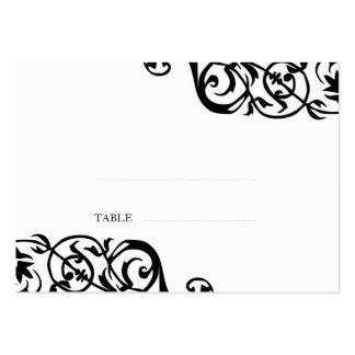 Wedding escort seating card custom print elegant large business cards (Pack of 100)