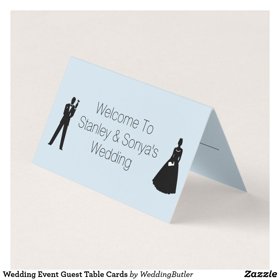 Wedding Event Guest Table Cards