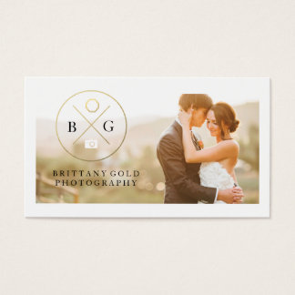 Wedding Event Photography Business Card Black Gold