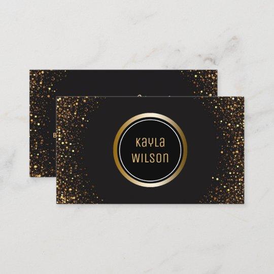 Wedding Event Planner Elegant Black Gold Business Card Zazzle Com