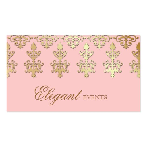 Wedding Event Planner Indian Damask Baby Pink Business