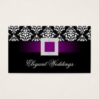 Wedding Event Planner Jewel Purple Black White Business Card