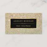 """Wedding Event Planner - Sassy Beauty Gold Glitter Business Card<br><div class=""""desc"""">Make a great impression with this stylish &quot;Sassy Beauty Gold Glitter&quot; Business Card template. Create yours today! (1) For further customization,  please click the &quot;customize further&quot; link and use our design tool to modify this template.  (2) If you need help or matching items,  please contact me.</div>"""