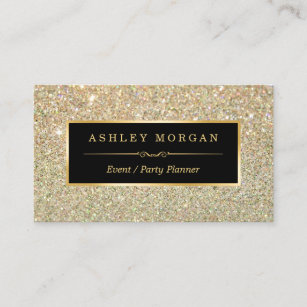 wedding event planner sassy beauty gold glitter business card - Wedding Planner Business Cards