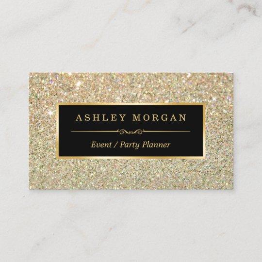 Wedding Event Planner Sassy Beauty Gold Glitter Business Card