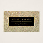 "Wedding Event Planner - Sassy Beauty Gold Glitter Business Card<br><div class=""desc"">Make a great impression with this stylish &quot;Sassy Beauty Gold Glitter&quot; Business Card template. Create yours today! (1) For further customization, please click the &quot;Customize&quot; button and use our design tool to modify this template. All text style, colors, sizes can be modified to fit your needs. (2) If you prefer...</div>"