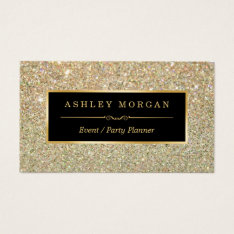 Wedding Event Planner - Sassy Beauty Gold Glitter Business Card at Zazzle