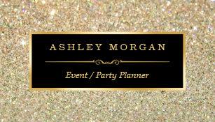 Event planner business cards zazzle wedding event planner sassy beauty gold glitter business card colourmoves