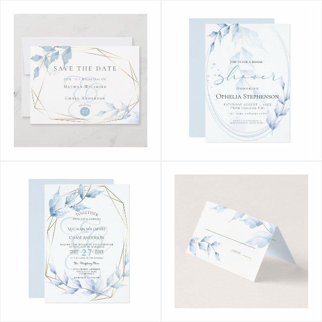WEDDING | Faded Lilac and Dusty Blue Foliage
