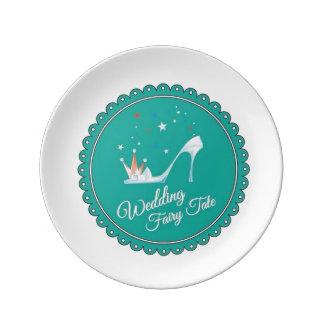 Wedding fairy tale plate