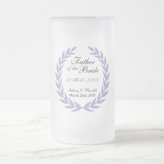 Wedding Father of the Bride Frosted Glass Mug