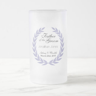 Wedding Father of the Groom Frosted Glass Mug