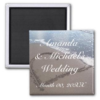Wedding Favor 2 Inch Square Magnet