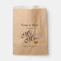 Wedding Favor Bag | Candy Kisses Mr. & Mrs.