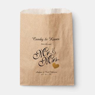 Wedding Favor Bag | Candy Kisses Mr. & Mrs.