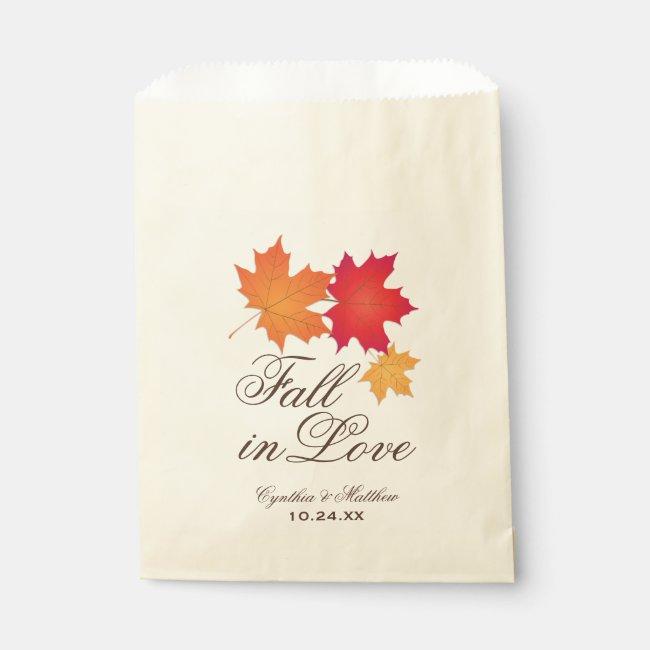 Wedding Favor Bag | Fall in Love Theme