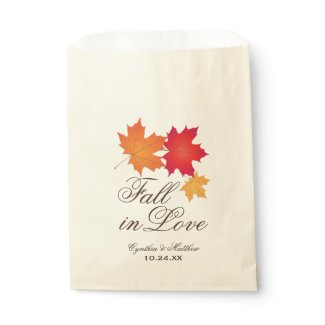 Wedding Favor Bag | Fall in Love Theme