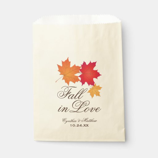 Wedding Favor Bag Fall in Love Theme