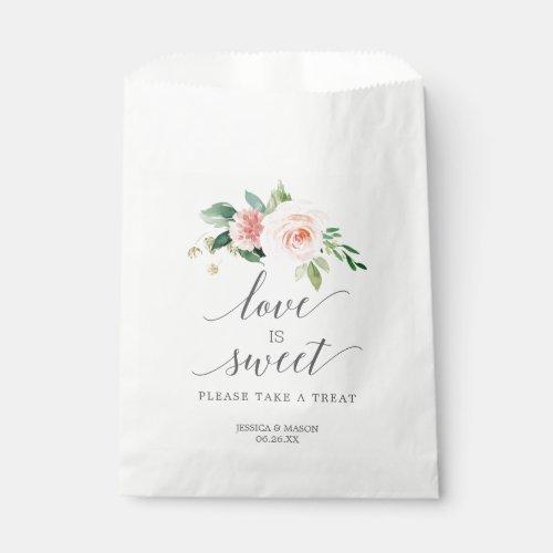Wedding Favor Bag Love is Sweet Blushing Blooms