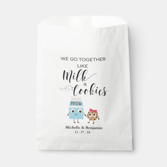 Wedding Favor Bag We Go Together Cookies Milk