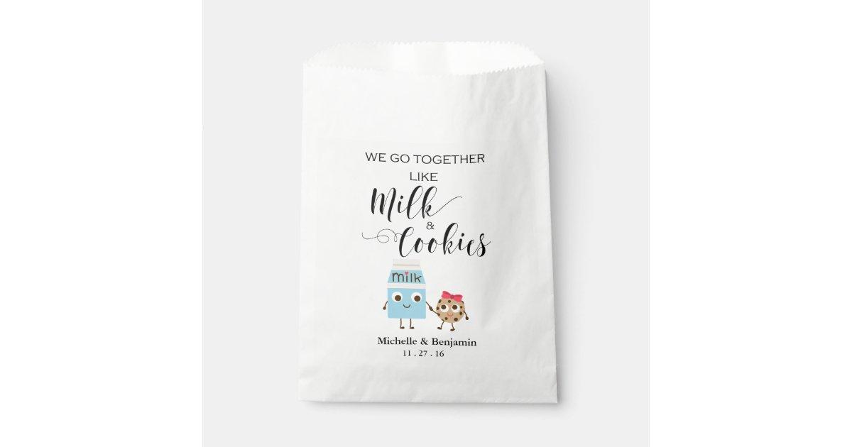 Wedding Favor Bag We Go Together Cookies Milk Zazzle