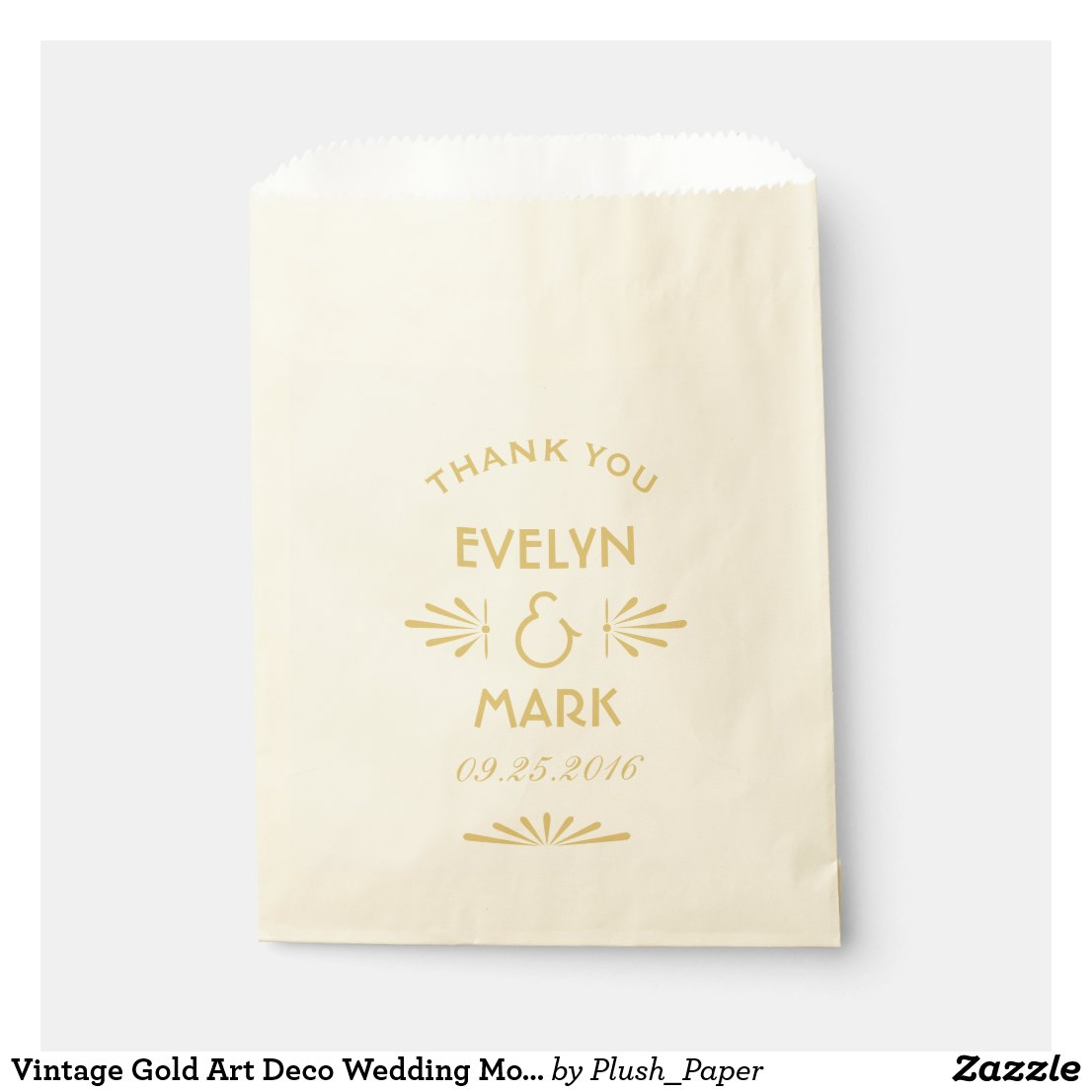 Wedding Favor Bags | Gold Art Deco