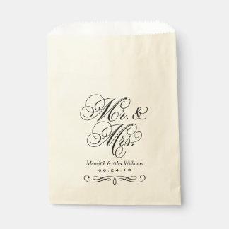 Wedding Favor Bags | Married Monogram